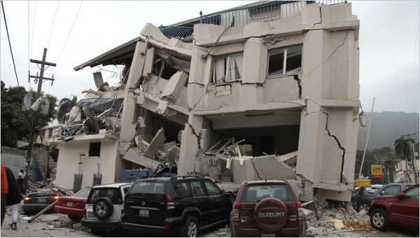 building destroyed by haiti's earthquake